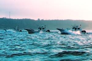 御前崎港からしらす漁へ出発